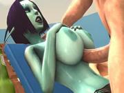 Play Green Freak Girl Titty Banged