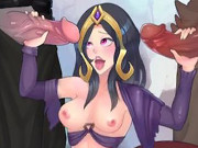 Liliana From Magic The Gathering Demon Gangbang
